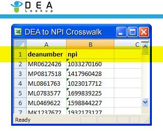 Dea Lookup Com Dea To Npi Crosswalk